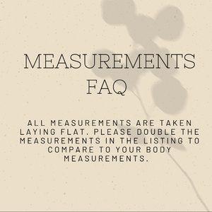 Measurements FAQ